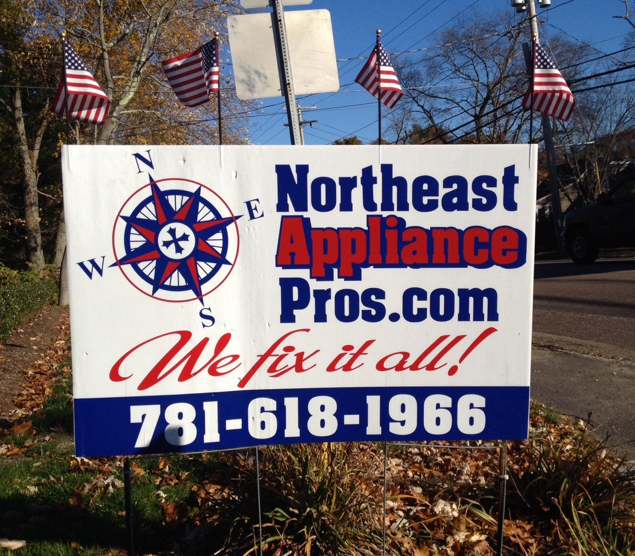 Northeast Appliance Pros Contact Sign